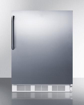 "AccuCold ALB651XCSS 24"" ADA Compliant Dual Evaporator Undercounter Refrigerator with 5.1 cu. ft. Capacity, 2 Adjustable Wire Shelves, 3 Door Bins, Adjustable Thermostat, and Cycle Defrost: Stainless Steel"