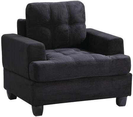 Glory Furniture G515AC Suede Armchair in Black