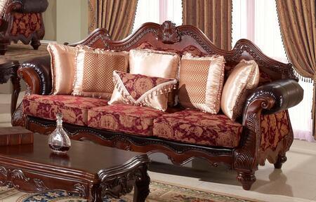 Meridian 672S  Stationary Fabric Sofa