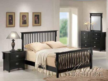 Acme Furniture 01754ACK Ridgeville Series  Sleigh Bed