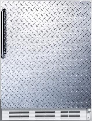 """AccuCold CT66J 24"""" CT66J Series Medical Compact Refrigerator with 5.1 cu. ft. Capacity, Interior Light, Adjustable Thermostat, Clear Crisper, and Door Storage:"""