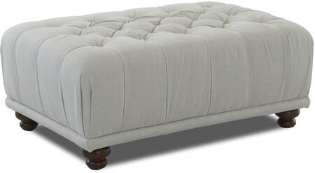 "Klaussner East Hampton Collection 35900-OTTOC 51"" Ottoman with Deep Padded Button Tufted Top and Turned Legs in"
