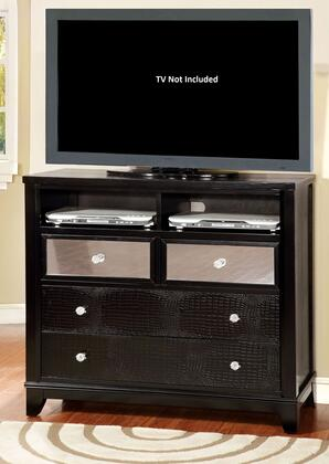 Furniture of America Bryant CM7288TVX Media Chest with Modern Style, Full Extension Drawers, Solid Wood, Wood Veneer and Others