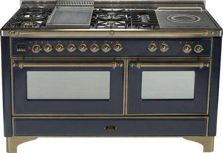 Ilve UM150FMPMY Majestic Series Dual Fuel Freestanding