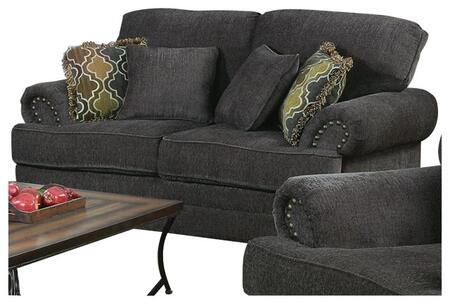 Coaster 504402 Colton Series Fabric Stationary with Wood Frame Loveseat