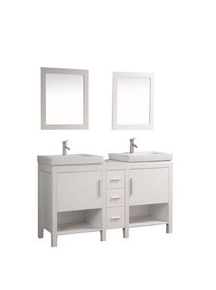 MTD MTDWA6960X Belarus I 60 Double Sink Bathroom Vanity Set