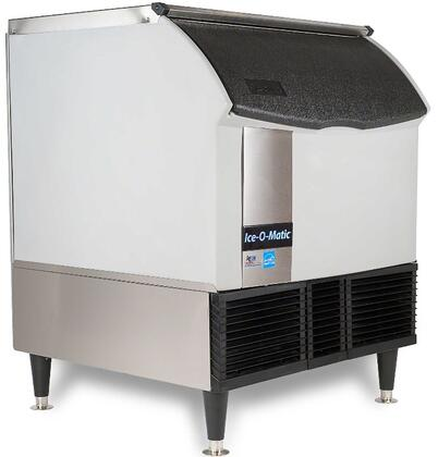 Ice-O-Matic ICEU300 Self-Contained  Cube Ice Machine with  Condensing Unit, Integrated Storage, Superior Construction, Cuber Evaporator, Harvest Assist and Filter-Free Air: Stainless Steel Top Panel