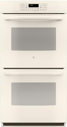 "GE JK3500 27"" Built-In Double Wall Oven with 8.6 cu. ft. Total Oven Capacity, Self-Clean Heavy Duty Oven Racks, Steam Clean Option, Ten Pass Bake Element, and Delay Bake, in"