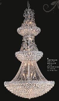 "J & P Crystal Lighting Firework Collection 99005D36 36"" Wide Chandelier in X Finish"