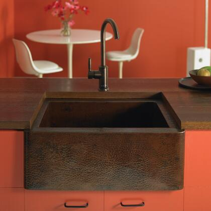 "Native Trails Copper Kitchen Sinks Collection Farmhouse Kitchen Sink with 3.5"" Drain Opening, Single Bowl, Undermount Installation and Copper Material in Antique Copper Finish"