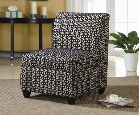 Coaster 902041 Armless Fabric Wood Frame Accent Chair