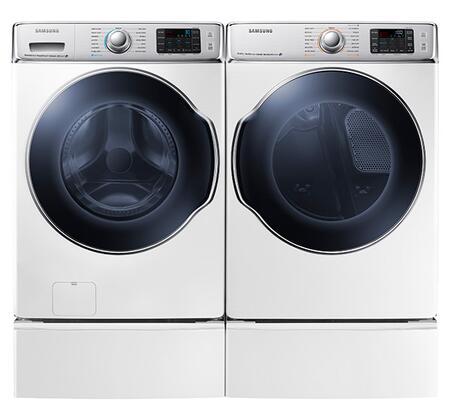Samsung Appliance SAM4PCFL30G2PEDBKKIT2 9100 Washer and Drye