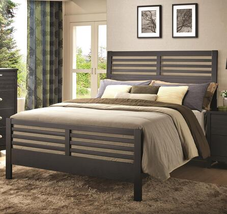 Coaster Richmond 202721BED Platform Bed with Slat Details and Clean Lines and Mattress Ready Design in Black