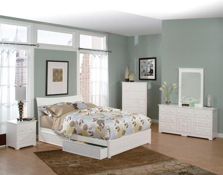 Atlantic Furniture SSOHOFPFFULLWH Soho Series  Full Size Bed