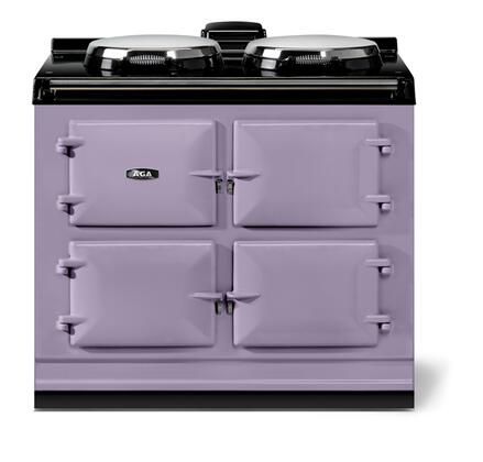 "AGA ATC3HEA 40"" Total Control Series Slide-in Electric Range with Smoothtop Cooktop, 1.5 cu. ft. Primary Oven Capacity, in Heather"