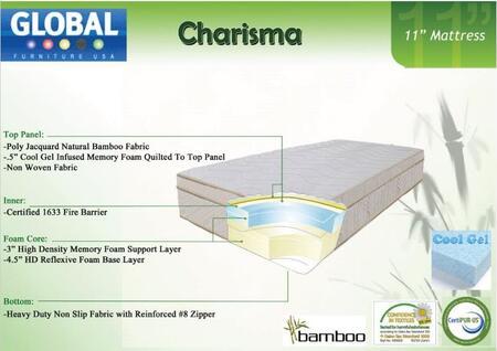 Global Furniture USA B1155FMF Charisma Series Full Size Mattress