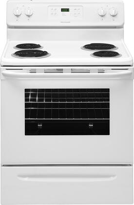 Frigidaire FFEF3016LW  Electric Freestanding Range with Coil Element Cooktop, 5.3 cu. ft. Primary Oven Capacity, Storage in White