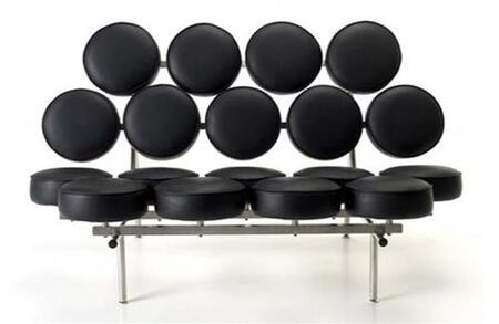 Fine Mod Imports FMI1121 Armless Italian Leather Cushions Circle Sofa: