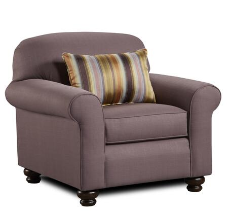 Chelsea Home Furniture 632239012 Trieste Series Polyester Armchair with Wood Frame in Sterling Napa