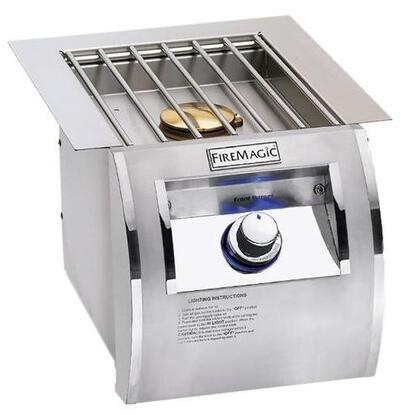 FireMagic 32794-1X XX Echelon Diamond Built-In Single Side Burner with Electronic Ignition System