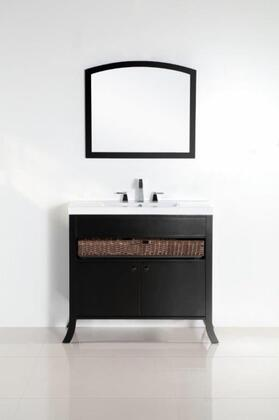 Bellaterra Home 500823 Vanity and Mirror Set