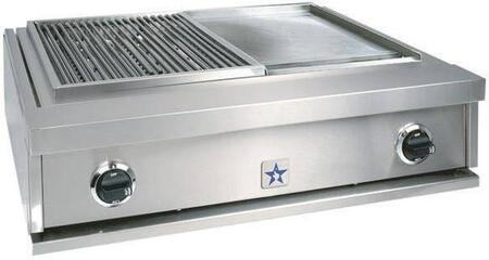"BlueStar PRZIDGCB30NG 30"" Charbroiler Series Gas Grill Style Cooktop, in Stainless Steel"