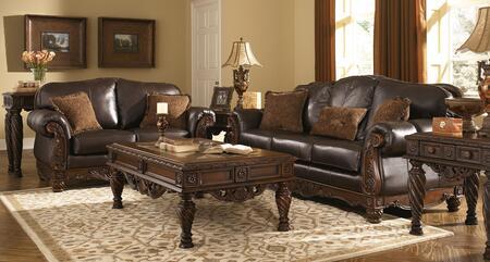 Milo Italia MI6844KIT6PCDKBR Franklin Living Room Sets