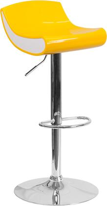 "Flash Furniture CH-101010 30"" - 39"" Plastic Barstool with Low Back Design, Adjustable Height and Chrome Base in"