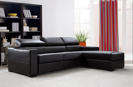 VIG Furniture VG2T0647 Divani Casa Flip Series Stationary Leather Sofa
