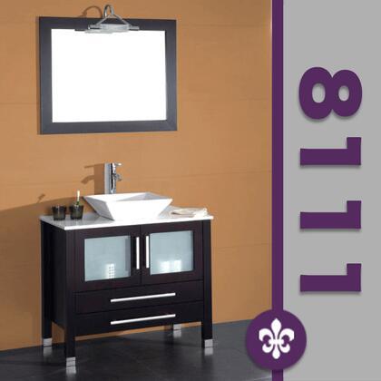 "Cambridge 8111X 36"" Solid Wood & Porcelain Single Vessel Sink Vanity Set with a Faucet"