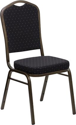 "Flash Furniture HERCULES Series FD-C01-GOLDVEIN-XX-GG 18.25"" Crown Back Stacking Banquet Chair with Patterned Fabric, 2.5"" Thick Seat, Gold Vein Frame, 16 Gauge Steel Frame, and Ships Fully Assembled"