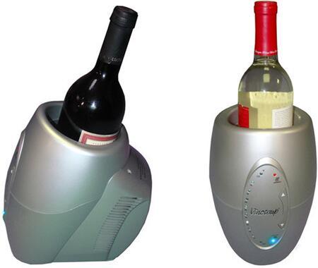 "Vinotemp VTCHILLERSLVR 5.88"" Freestanding Wine Cooler, in Grey"