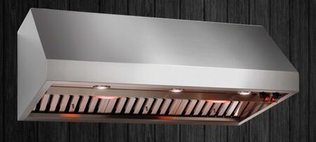Calabria Stainless Wall Mounted Range Hood: Standard View of the Hood