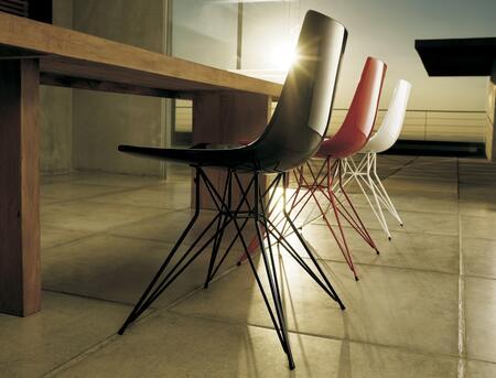 Modloft CDJ167ASL3 Audley Series Modern Not Upholstered Metal Frame Dining Room Chair