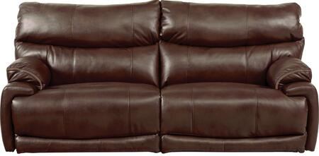 "Catnapper Larkin Collection 1391 90"" Power Lay Flat Reclining Sofa with Faux Leather Upholstery and Pub Back Design in"
