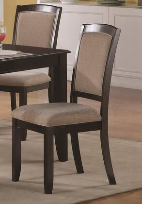 Coaster 102752 Memphis Series Contemporary Fabric Wood Frame Dining Room Chair