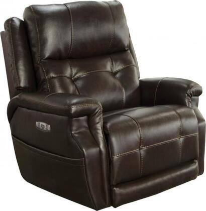 "Catnapper Kepley Collection 7645617 40"" Lay Flat Recliner with Power Headrest, Extended Ottoman, Control Panel Technology, Comfort Coil Seating Comfor-Gel and Faux Leather Polyurethane Upholstery"