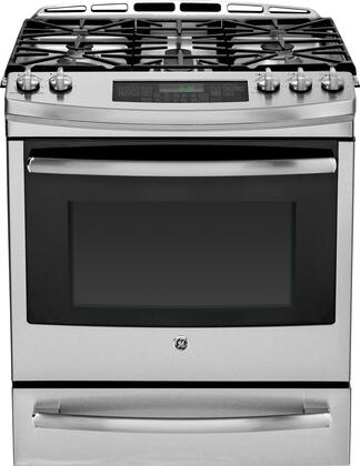 "GE Profile PGS920SEFSS 30"" Profile Series Slide-in Gas Range with Sealed Burner Cooktop, 5.6 cu. ft. Primary Oven Capacity, Warming in Stainless Steel"