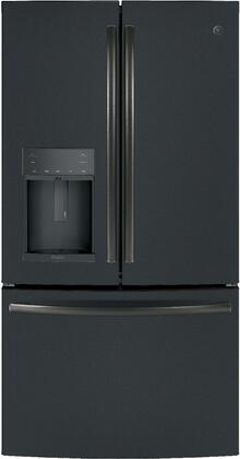 """GE Profile PFE28K 36"""" Energy Star, ADA Compliant French Door Refrigerator with 27.8 cu. ft. Capacity, TwinChill Evaporator, Water and Ice Dispenser and Drop Down Tray:"""