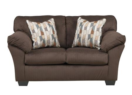 Benchcraft Aluria 1820X35 Loveseat with Padded Arms, 2 Pillows Included, and Textured Fabric Upholstery in