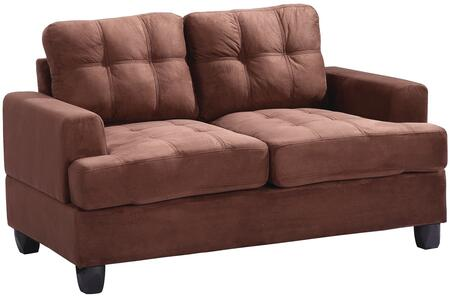 Glory Furniture G512AL Suede Stationary Loveseat