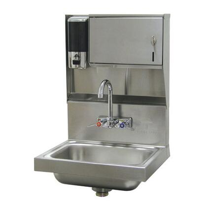 Advance Tabco 7-PS-79 Classic Premium Wall Mounted Hand Sink with Heavy Duty Faucet, Liquid Soap and Paper Towel Dispenser