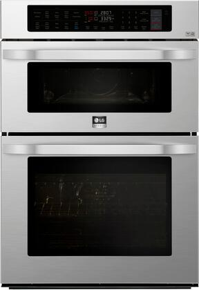 Lg Studio Lswc307st 30 Inch Stainless Steel Electric Double Wall Convection Steam Oven Microwave Combo