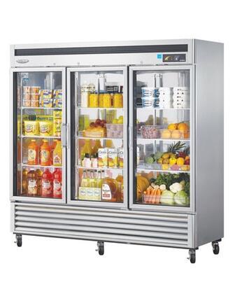Turbo Air MSR72G3 Super Deluxe Standard Reach In Glass Door Heavy Duty Refrigerator