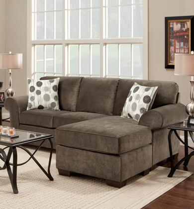 Chelsea Home Furniture 195303 Worcester Sofa Chaise with 16 Gauge Wire, Sinuous Springs, Hi-Density Foam Core Cushions and Kiln Dried Hardwood Frames in