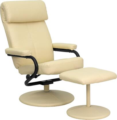 Flash Furniture BT7863CREAMGG Palomino Series Contemporary Leather Metal Frame  Recliners