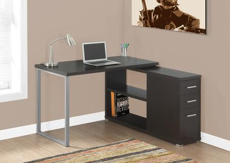 "Monarch I 713X 48"" Computer Desk with Open Concept Shelves, Ample Surface Space and Three Drawers"