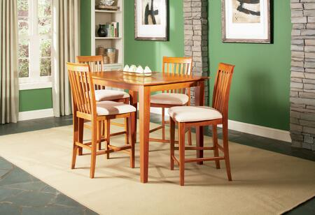 Atlantic Furniture SHAKER5454BTPT Shaker Series 54x54 Butterfly Top Pub Height Dining Table: