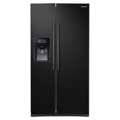 "Samsung Appliance RS25J500D 36"" Side-By-Side Refrigerator with 25 cu. ft. Capacity, External Filtered Water and Ice Dispenser, LED Display, 6 Temperature Sensors, and Door Alarm in"