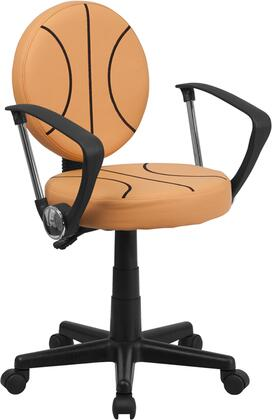 Flash Furniture BT6178BASKETXGG Basketball Black/Orange Nylon Task Chair
